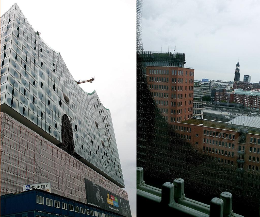Elbphilharmonie von außen und von innen