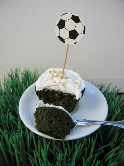 grüne Cupcakes