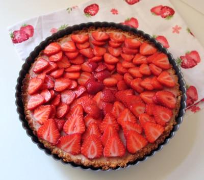 Erdbeeren schichten