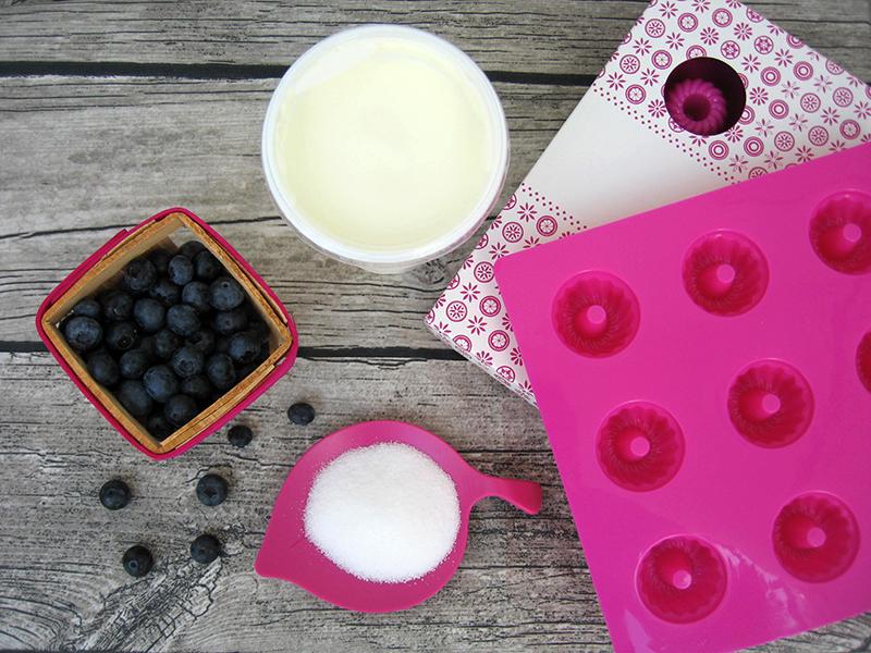 Zutaten für das Heidelbeeren-Eis