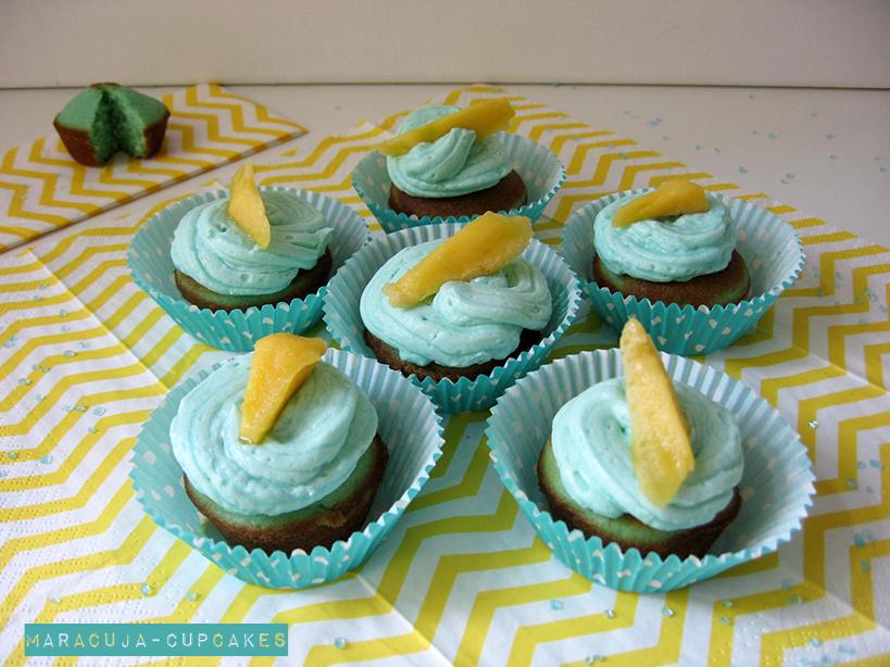 Maracuja-Cupcakes mit Mango-Topping - #ichbacksmir