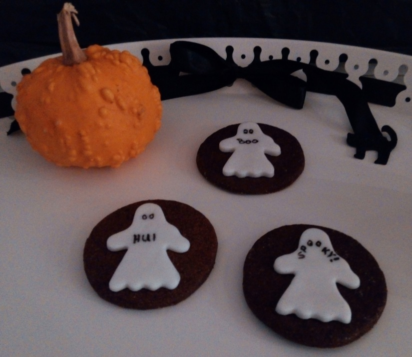 Halloween-Cookies mit Gespenst