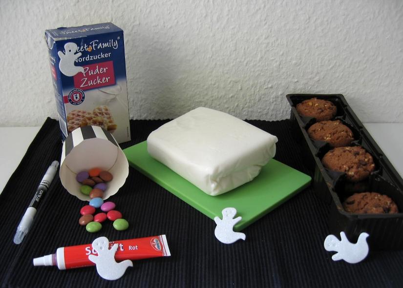 Zutaten für Mumien-Cookies