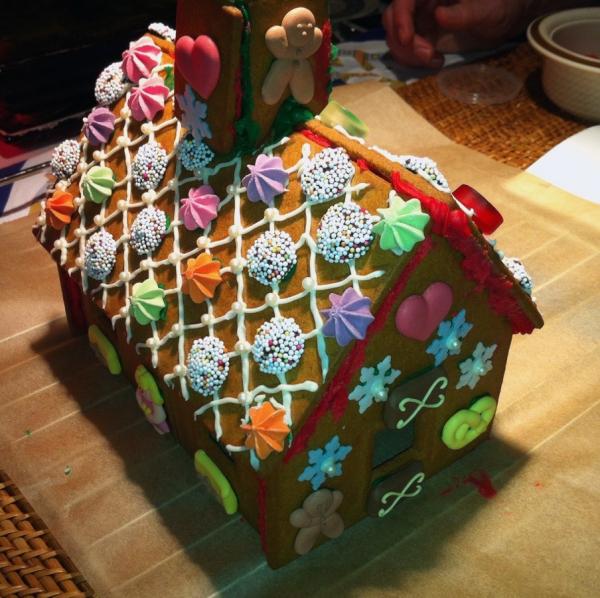 Verziertes Lebkuchenhaus