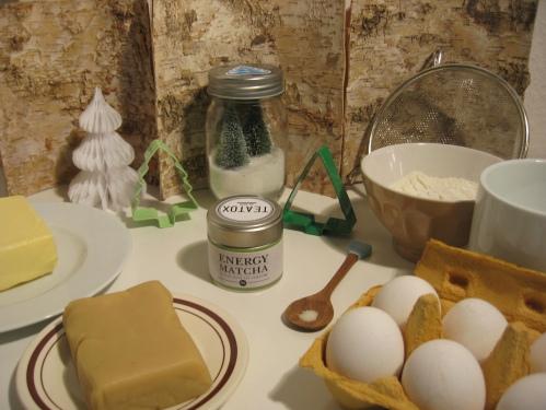 Zutaten für Matcha-Baumkuchen