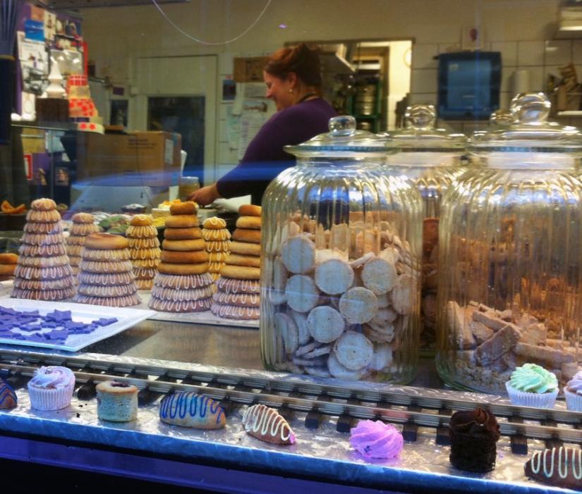 Neujahrskuchen in der Bäckerei