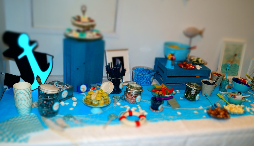 Candybar in Blau - Blue sweet table