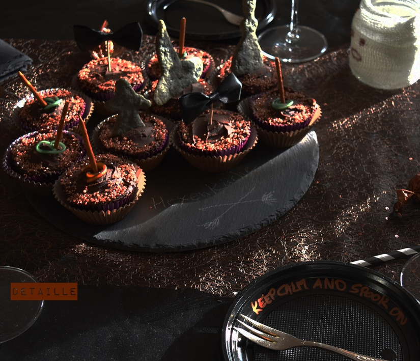 Cupcakes in Schwarz und Kupfer