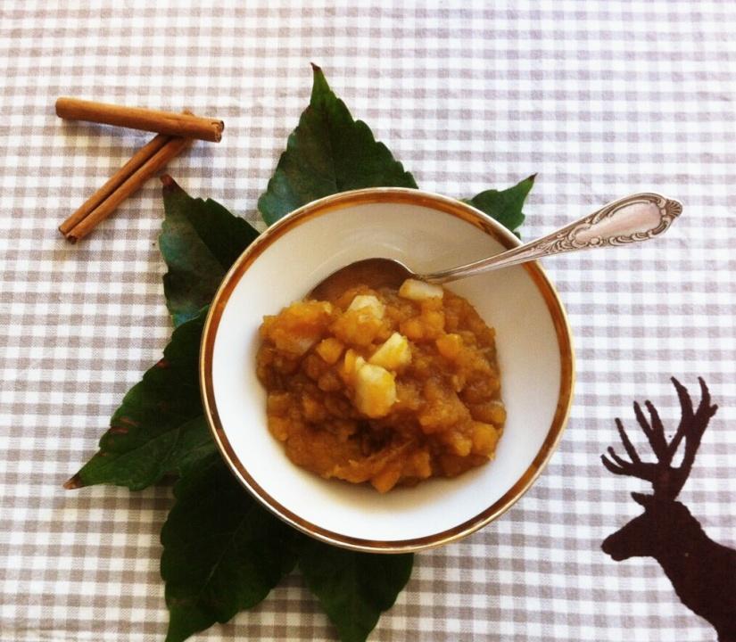 Süßkartoffel-Birnen-Kompott mit Vanille und Zimt!