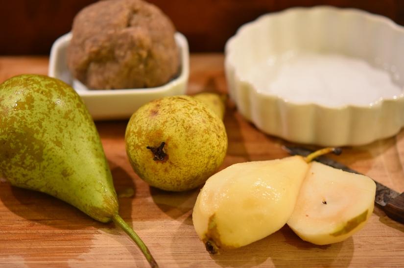 Zutaten für das Birnen-Zimt-Crumble