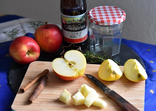 Zutaten für die Bratapfel-Cidre-Konfitüre