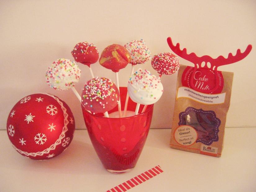 Cake Pops in Rot