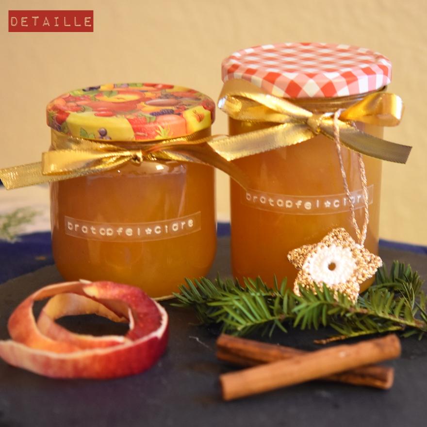 Weihnachtsgeschenk aus der Küche: Bratapfel-Konfitüre