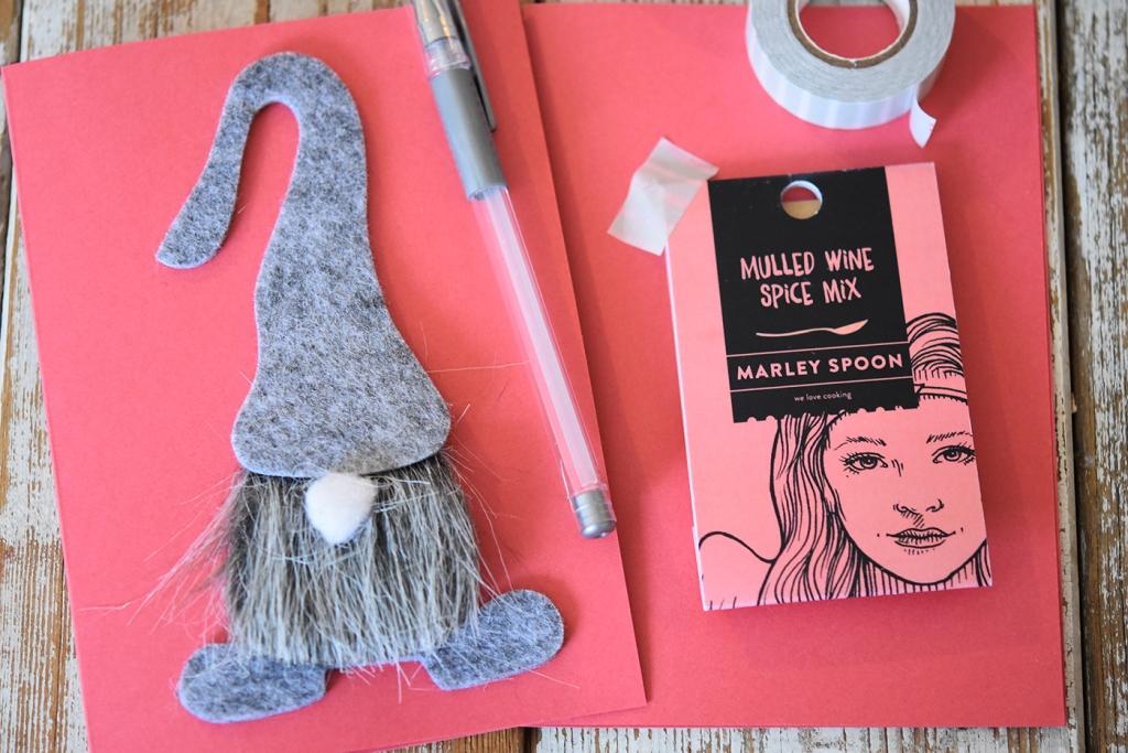 Weihnachtskarten basteln mit Glühweingewürz