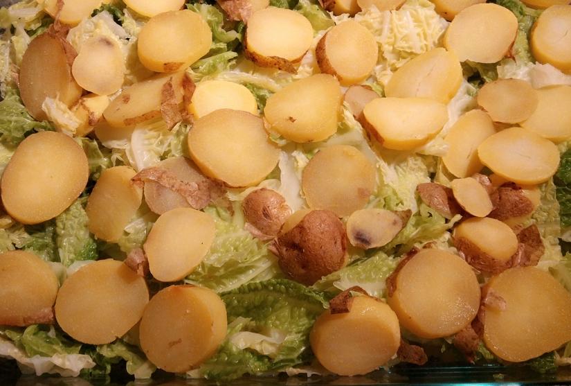 Wirsing-Kartoffel-Auflauf zubereiten