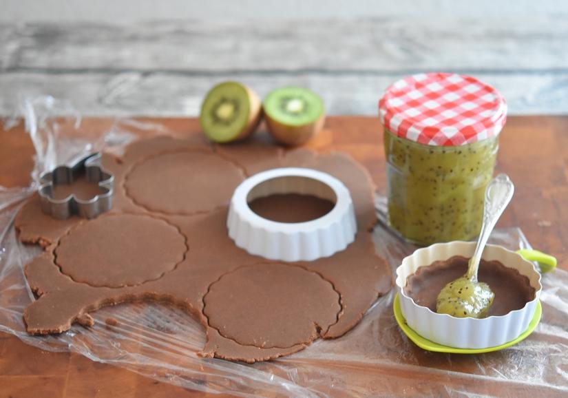 Kiwi-Konfitüre als Pie-Füllung