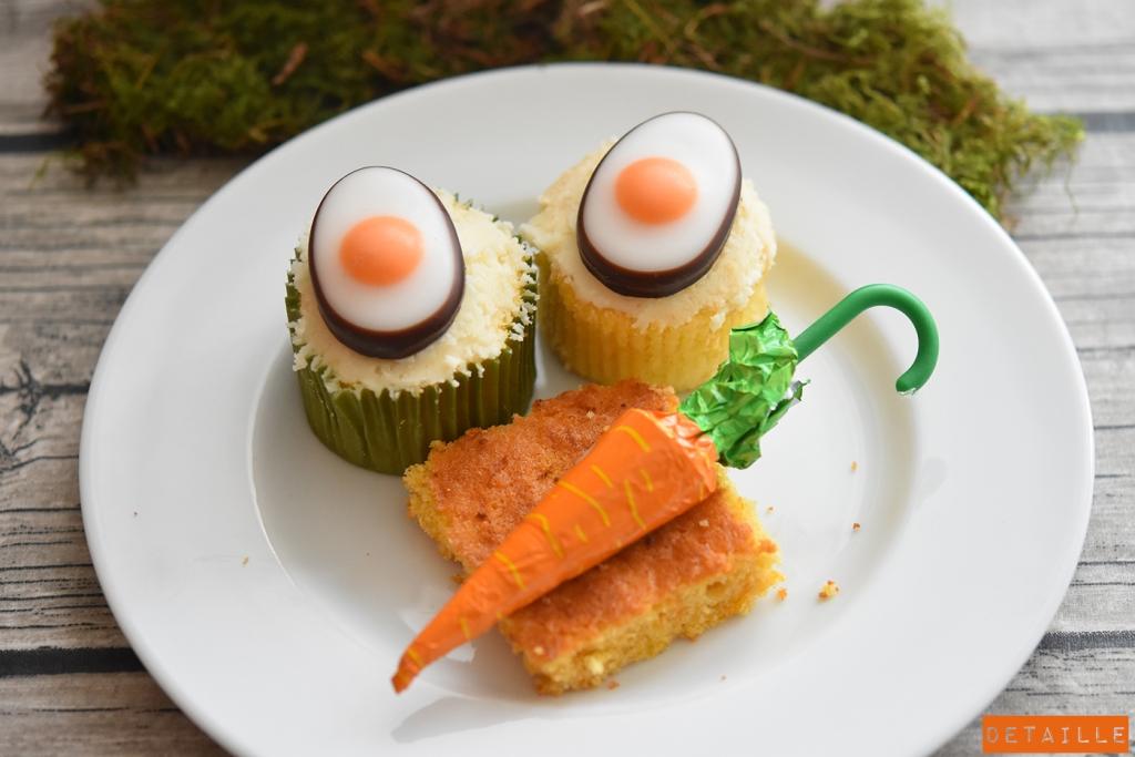Eierlikör-Cupcakes und Möhrenkuchen