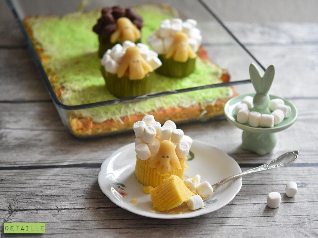 Schaf-Cupcakes mit Marshmallows