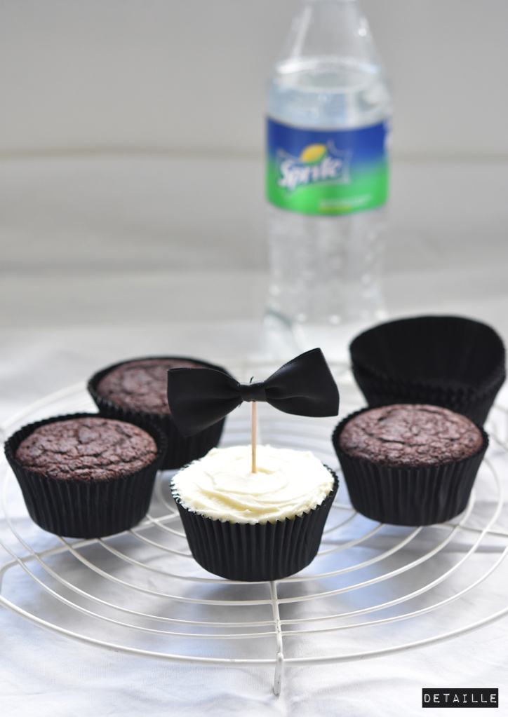 Cola-Cupcakes with Spirte-Frosting