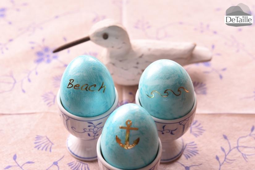 Ostereier mit maritimen Tattoos