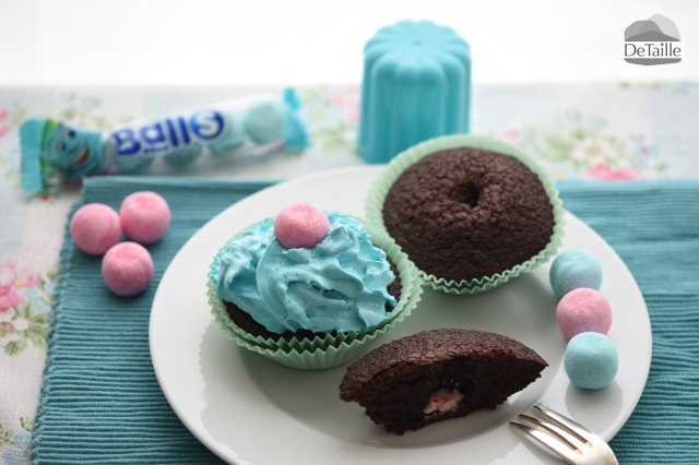 cupcakes babyparty blau pink