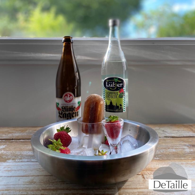 Lüttje Lage Eis mit Lütjer Hopfen und Erdbeer